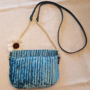 NWT A New Day Teal Crushed Velvet Purse